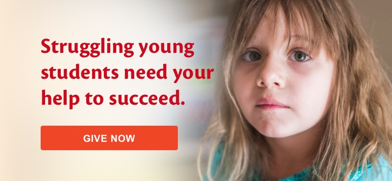 Struggling young students need your help to succeed. Give now.